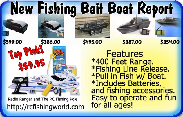 Given the choice, for a first timer these rc fishing boats are more practical than the more expensive bait boats.